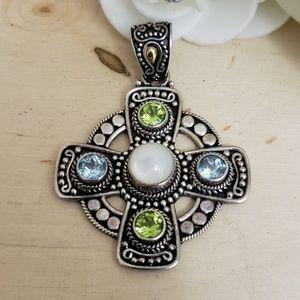 Jewelry - 18K 925 Sterling Silver Suarti Bali Pendant